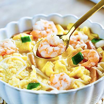 低脂不胖,虾仁菌菇汤