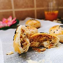 酥皮蛋黄月饼 (不用模具)