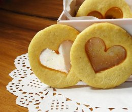 玻璃心黄油饼干#百吉福芝士力量#的做法
