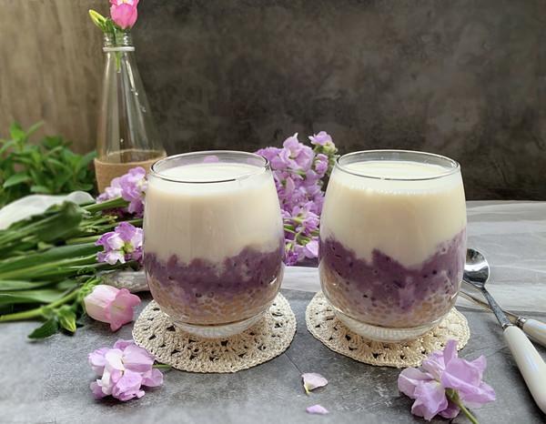 #母亲节,给妈妈做道菜#鲜奶芋泥西米露