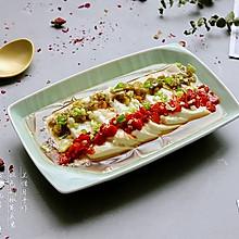 #晒出你的团圆大餐# 双色剁椒蒸豆腐