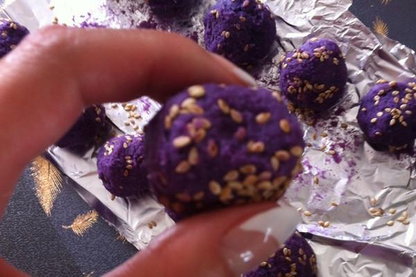 芝士紫薯球的做法