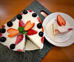 高颜值酸奶蛋糕,不用烤箱也能做的蛋糕的做法