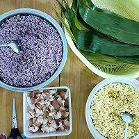 #甜粽VS咸粽,你是哪一党?#紫色三角肉粽的做法图解2