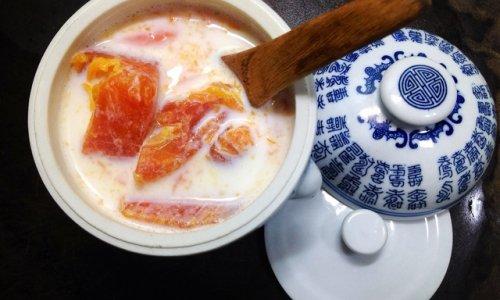 #梅太厨房#木瓜炖奶的做法