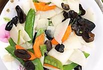 清炒山药木耳扁豆的做法