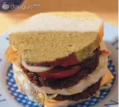 美国牛肉土司堡的做法