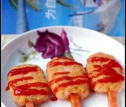 虾肉棒的做法