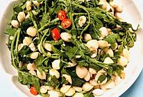 #餐桌上的春日限定#凉拌杏仁花椒芽的做法