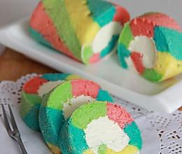 让人心情愉悦的彩虹蛋糕卷(详细步骤)的做法