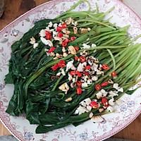 #花10分钟,做一道菜!# 蒜香鸡毛菜的做法图解5