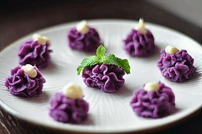 酸甜果仁酸奶紫薯泥