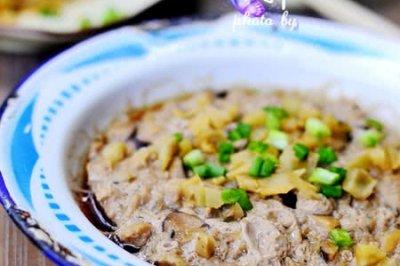 香菇榨菜蒸肉饼--乌江榨菜