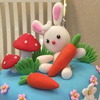 翻糖双层生日蛋糕的做法图解4