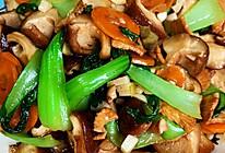 鸡肉香菇油菜的做法