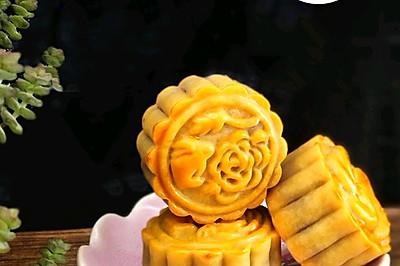 自制橙皮红豆沙广式月饼