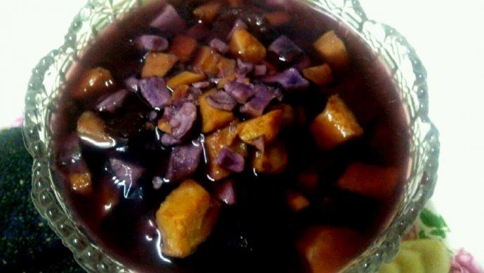 薯于你的甜   紫薯红薯红枣汤