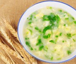 翡翠鸡蛋疙瘩汤的做法
