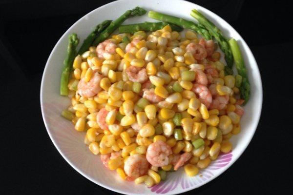 清炒玉米虾仁的做法