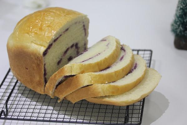 面包机做面包的方法(自制紫薯土司)