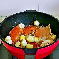 #合理膳食 营养健康进家庭#红烧梭子蟹的做法图解9