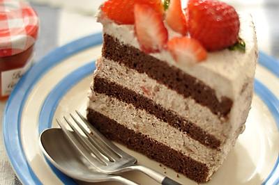 巧克力草莓奶油蛋糕#九阳烘焙剧场#