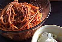 超简单番茄肉酱意面的做法