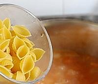 减肥瘦身低热量,蔬菜意面浓汤的做法图解6