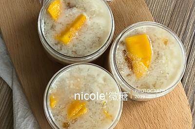 椰汁芒果桃膠雪燕養顏羹