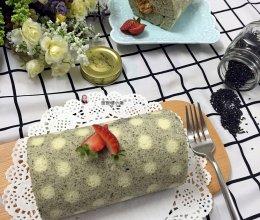 黑芝麻波点蛋糕卷的做法