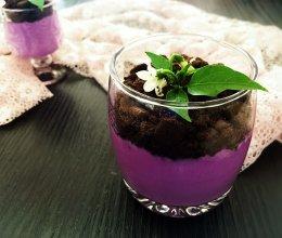 美味奥利奥紫薯奶热饮的做法