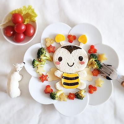 小蜜蜂早餐吐司 早起宝宝有食吃