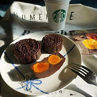 巧克力莲蓉双黄月饼—星巴克月饼的创新