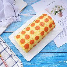 #秋天怎么吃#波点蜜桃蛋糕卷