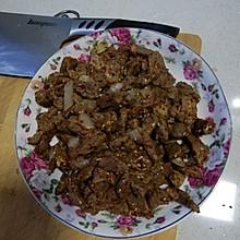 新疆美食-炒烤肉