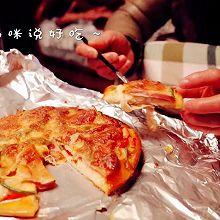 我妈咪说好吃的培根火腿披萨~