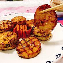 香煎黑椒杏鲍菇 素食鲍鱼