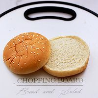 #秋天怎么吃#快手午餐肉黄瓜汉堡包的做法图解4