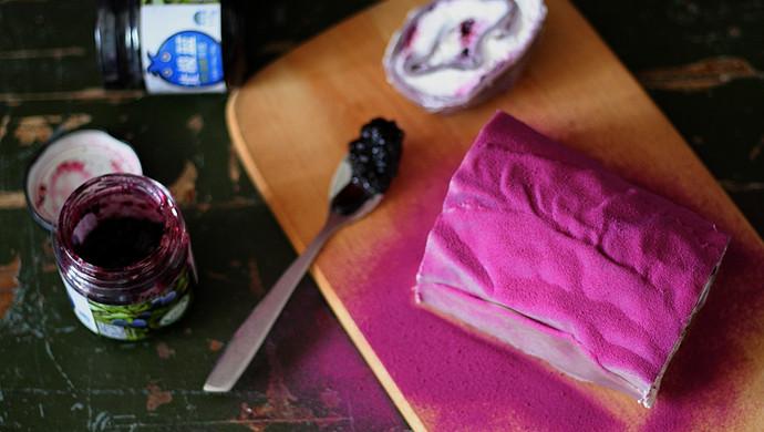 紫薯蓝莓毛巾卷