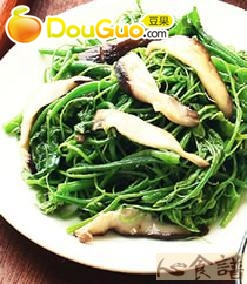 鲜菇炒龙鬚菜的做法