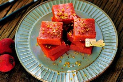 零失败的美容开胃消食小零食——桂花山楂糕