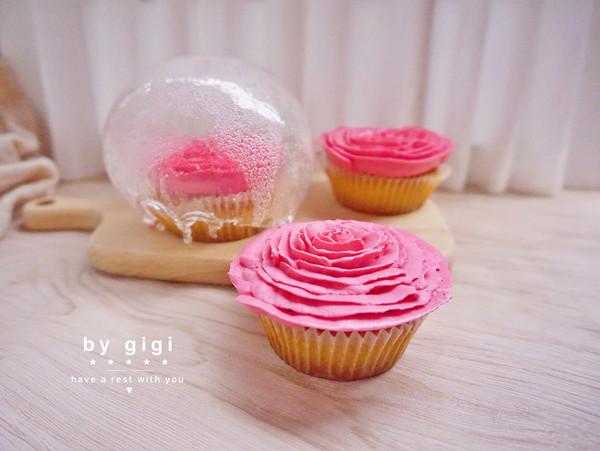 母親節-玫瑰花玻璃罩蛋糕