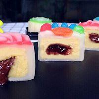 彩色流心冰皮月饼的做法图解7