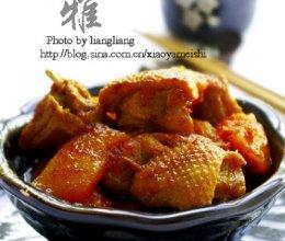 木瓜焖鸭肉的做法