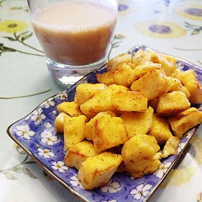 快手早餐/小吃——香煎孜然馒头