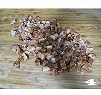 五彩腊肠焖饭的做法图解4