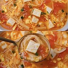 低卡高蛋白的番茄豆腐汤
