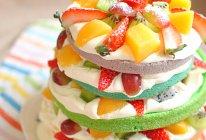 2015华丽开篇 彩虹裸蛋糕的做法