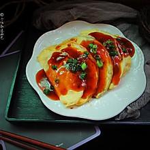 浇汁黄金蛋饺