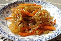 胡萝卜炒粉条 的做法